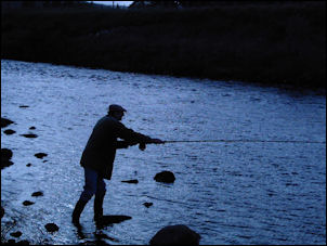 fly casting on the River Findhorn