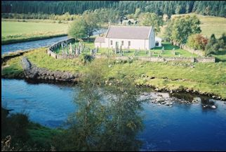 Dalrossie church and river photo