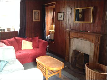 sitting room in cottage