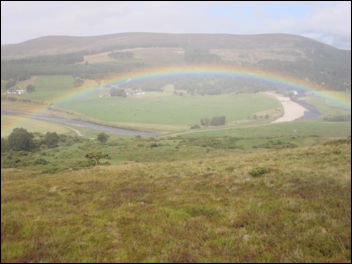 Rainbow over the River Findhorn Scotland