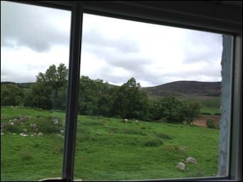view from bathroom window in cottage